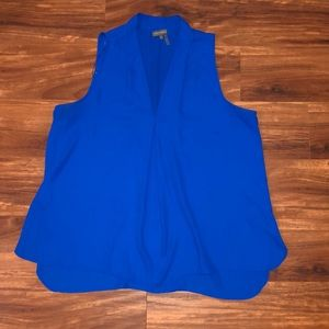 Beautiful blue sleeveless blouse